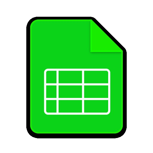 Spreadsheet Icons Noun Project Document Google Icon