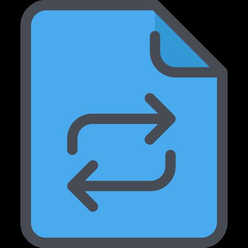 , Document, Exchange Icon Free Of Free Color Mix
