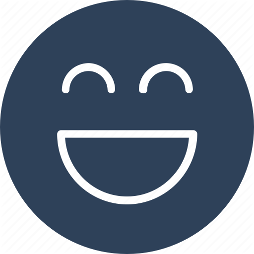 Emoticons, Excited, Happy, Laughing Icon