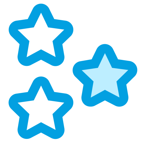 Exclusive, Rate, Stars Icon