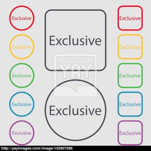 Exclusive Sign Icon Special Offer Symbol Symbols On The Round