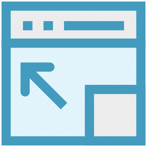 Arrow, Blog, Expand, Full Screen, Web, Webpage, Website Icon