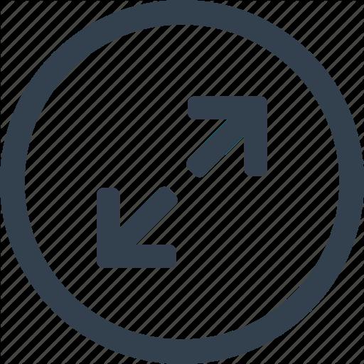 Arrow, Circle, Direction, Expand Icon