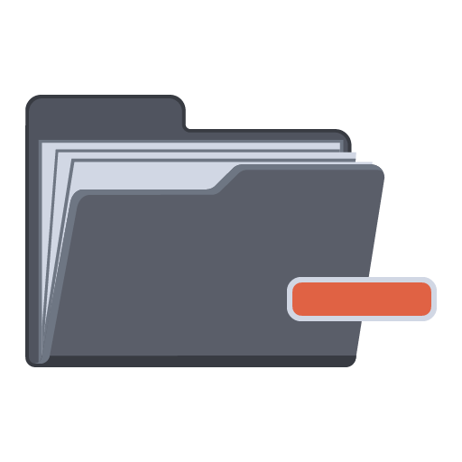 Collapse Folder Icon Flat Folder Iconset Pelfusion