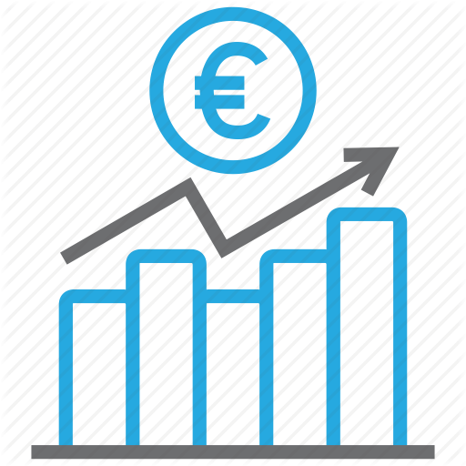 Chart, Diagram, Euro, Graph, Money, Report, Statistics Icon