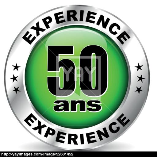 Fifty Years Experience Icon Vector