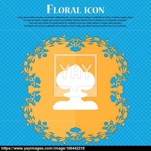 Explosion Icon Icon Floral Flat Design On A Blue Abstract