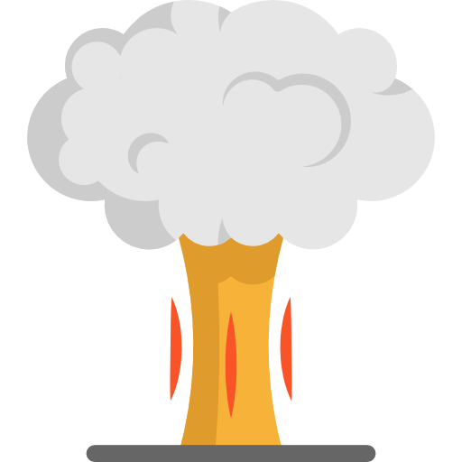 Bomb, Explosive, Miscellaneous, Nuclear, Explosion Icon
