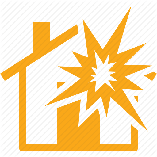 Explosion Insurance, Home Insurance, House Icon