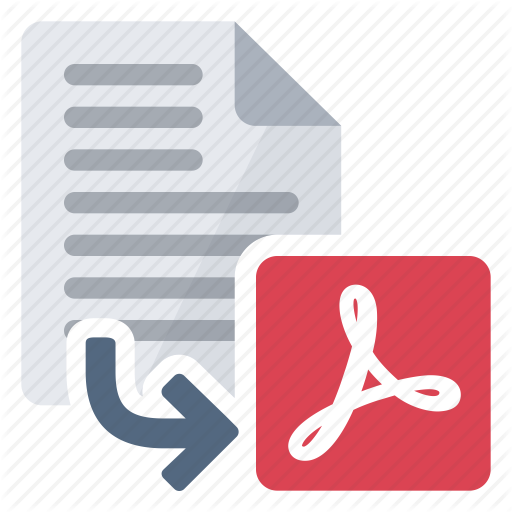 Convert, Document, Export, Extension, From, Pdf Icon
