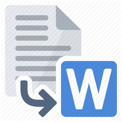 Convert, Document, Export, Extension, From, Word Icon