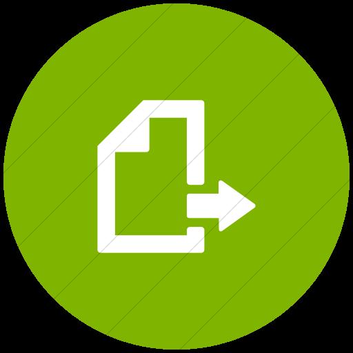 Flat Circle White On Green Foundation