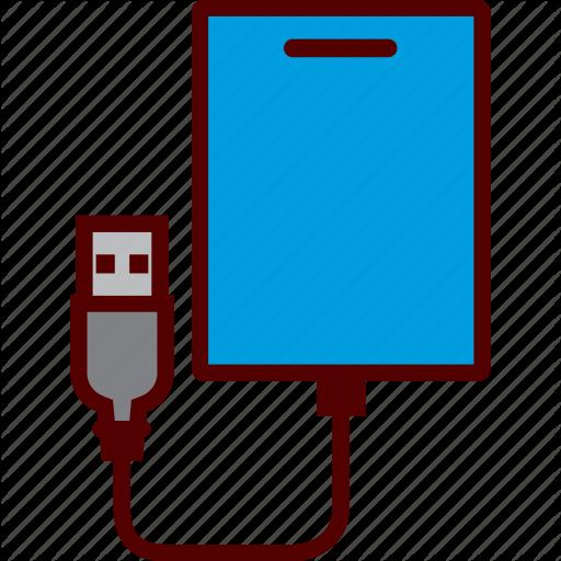 Data, Drive, External, Hard, Storage Icon