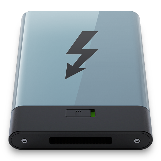 Graphite Thunderbolt B Icon Hyper Realistic Hd Iconset