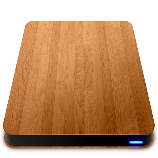 Wooden Slick Drives External Icons, Free Icons In Wooden Slick