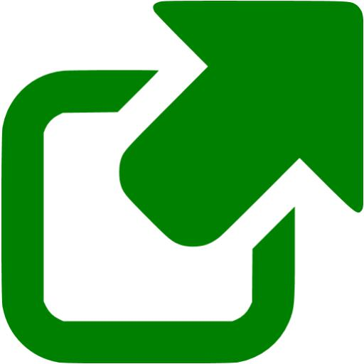 Green External Link Icon