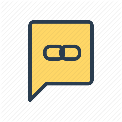 Bubble, External, Link, Message, Url Icon