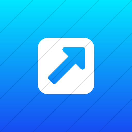 Flat Square White On Ios Blue Gradient Bootstrap Font