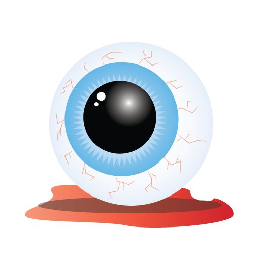 Bloody, Scary, Eye Icon