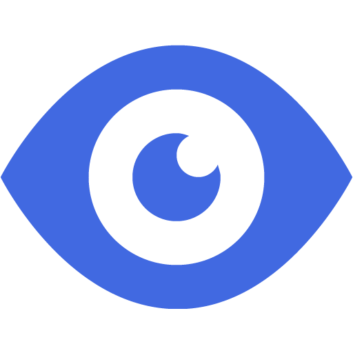 Royal Blue Eye Icon