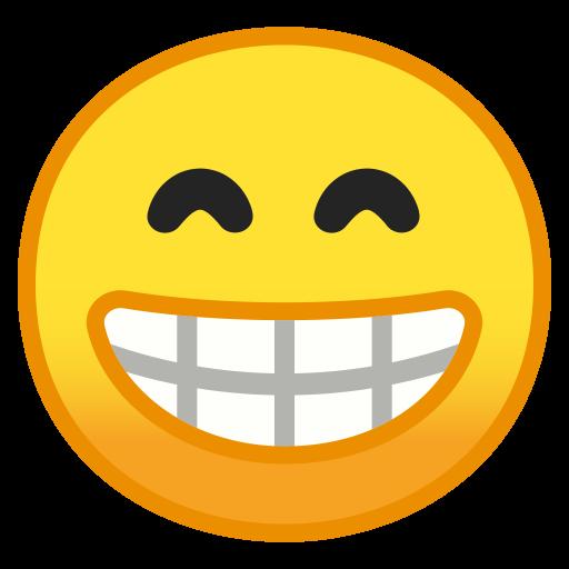 Beaming Face With Smiling Eyes Icon Noto Emoji Smileys Iconset