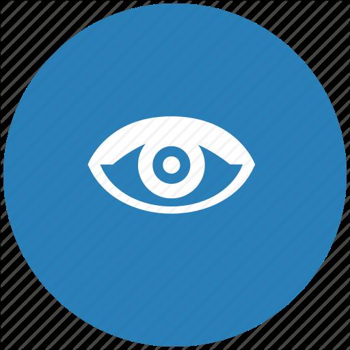Blue, Eye, Round, View, Vision Icon
