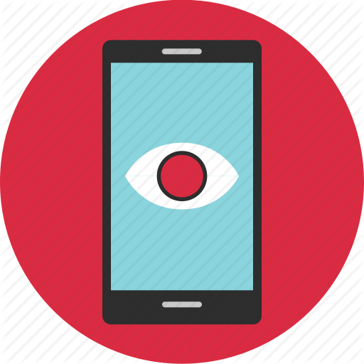 Cell, Eye, Find, Google, Look, Phone, Search Icon