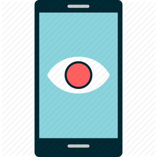 Cell, Eye, Google, Look, Phone, Search Icon