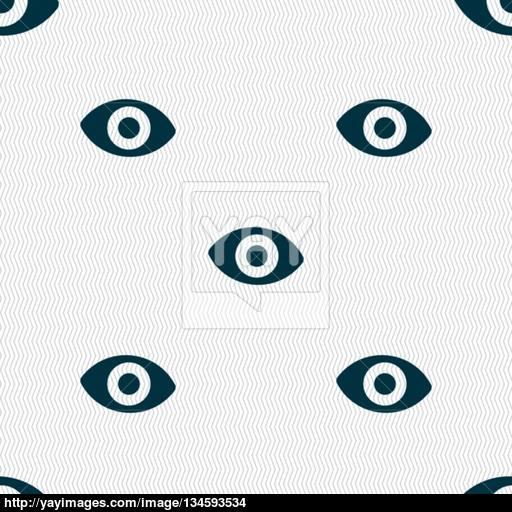 Sixth Sense, The Eye Icon Sign Seamless Pattern With Geometric