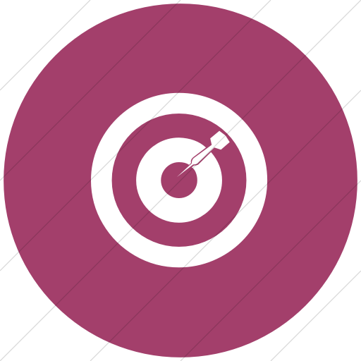 Flat Circle White On Pink Classica Bulls Eye Icon