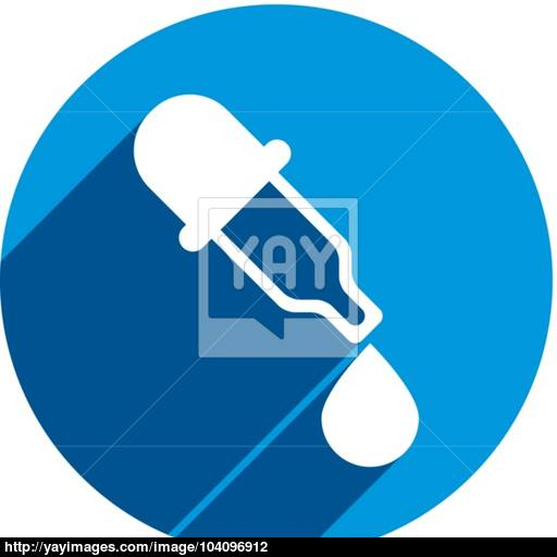 Dropper Vector Icon, Medical Pipette, Eyedropper Vector