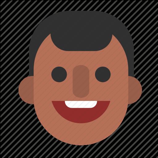 Black, Face, Guy, Happy, Head, Male, Man Icon