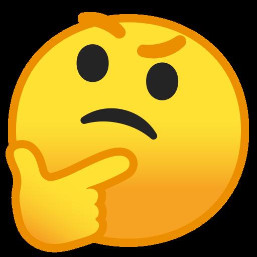 Thinking Face Icon Noto Emoji Smileys Iconset Google