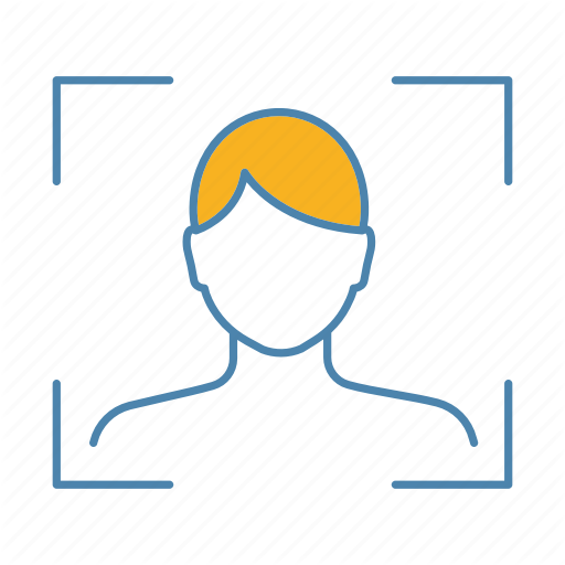 Biometric, Face, Face Id, Facial, Recognition, Scan, Verification Icon