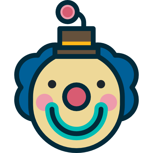 Interface, Head, Clown, Comedy, Funny, User, Laughter, Face Icon