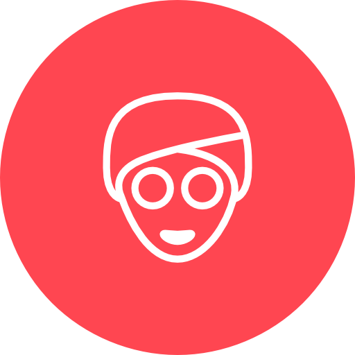 Red, Face, Mask Icon Free Of Hotel And Spa Icons