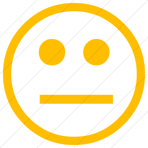 Simple Yellow Classic Emoticons Neutral Face Icon