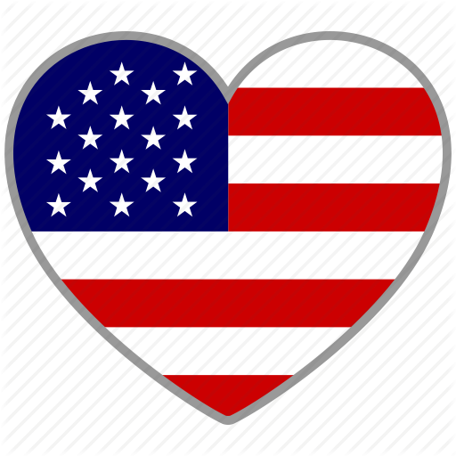 America, American, Flag Heart, Love, State, States, Usa Icon