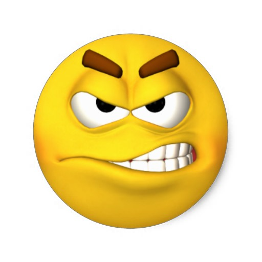 Mad Face Emoticon Images