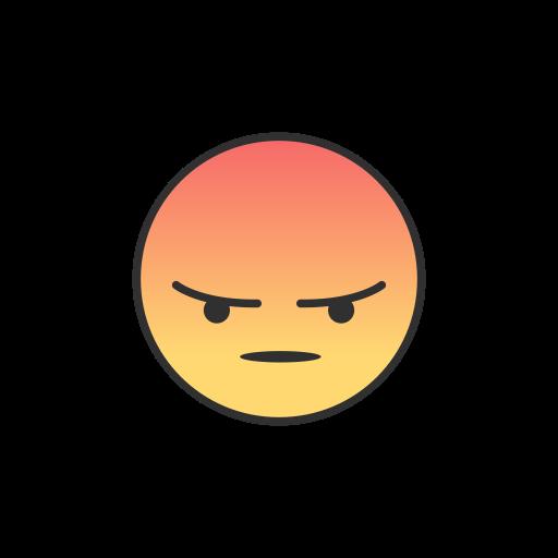 Angry, Angry Emoji, Emoji, Facebook Icon