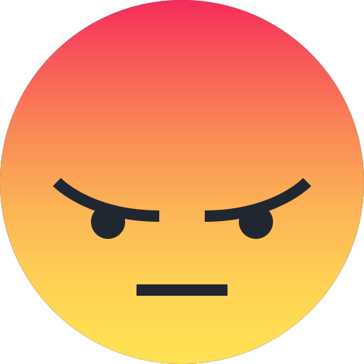 Angry, Emoji, Emoticon, Reaction, Sad Icon