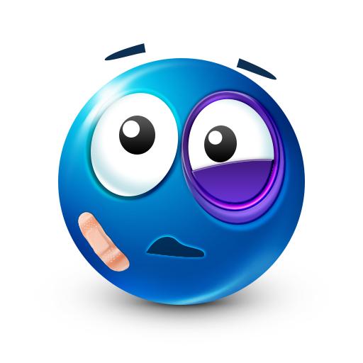 Black Eye Smiley Facebook Symbols Big Smileys