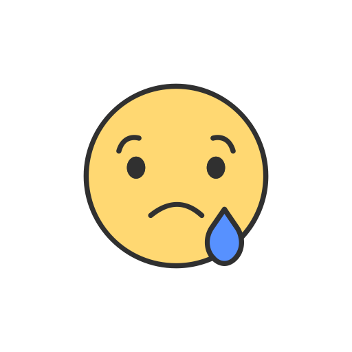 Facebook, Emoji, Reaction, Sad Emoji Icon