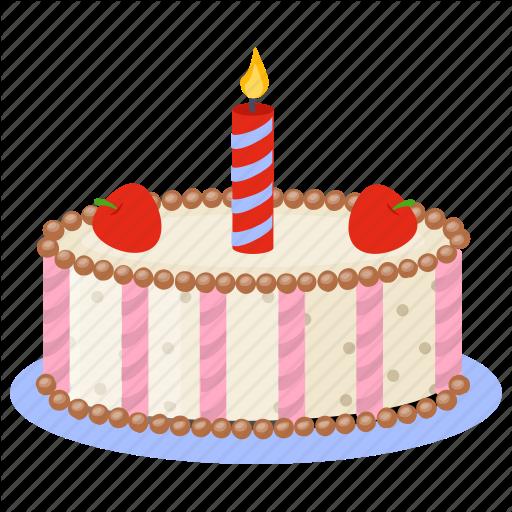 Birthday Cake, Candle Cake, Dacquoise Cake, Dessert Cake, Party