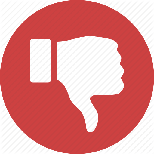 Circle, Dislike, Down, Hate, Red, Reject, Thumbs Icon