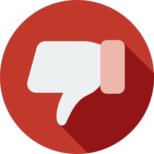Flat Design Dislike Button Png Image