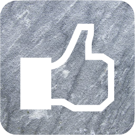 Gray Sandstone Facebook Like Icon