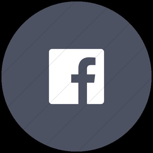 Flat Circle White On Blue Gray Foundation Social