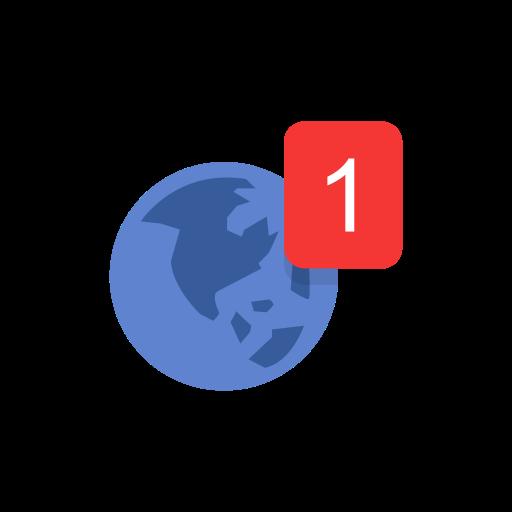 Globe, Notification, Facebook, Fb Icon