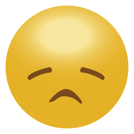 Yellow Sad Emoji Emoticon